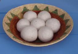 3 Natural Felted Wool Dryer Balls by Brookingham