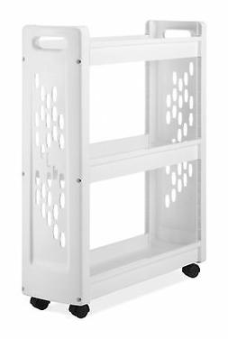 Whitmor 3 Tier Rolling Laundry Cart - Space Saving Mobile St