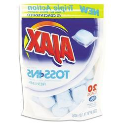 Ajax. 49704 Toss Ins Powder Laundry Detergent, Packets, 20/P