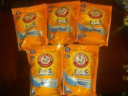 5 pack ARM & HAMMER w/ OXI CLEAN 2-IN-1 POWER PAKS LAUNDRY D