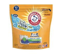 Arm & Hammer Plus Oxiclean 3-in-1 Laundry Detergent Paks, 17