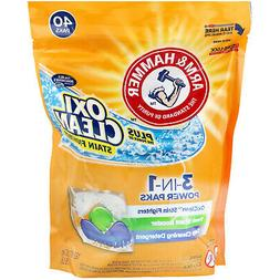 Arm & Hammer Plus Oxiclean 3-in-1 Power Paks, 40 Count