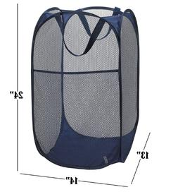 Mesh Popup Laundry Hamper - Portable, Durable Handles, Colla