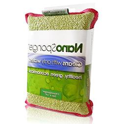 Nano Sponge Cleaning Sponges. Supersized Everyday Heavy Duty