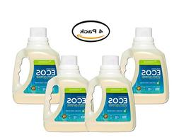 PACK OF 4 - ECOS Hypoallergenic Laundry Detergent, Lemongras