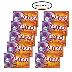 Pack of 10 - Bounce Dryer Sheets with Febreze, Spring & Rene