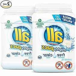 all Mighty Pacs Laundry Detergent, Free Clear for Sensitive