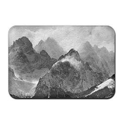 Feimao Black White Mountains Doormat Durable Carpet Indoor O