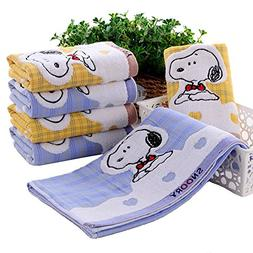 Wcysin 2 Pieces Cartoon Cotton Baby Face Washers Hand Towels