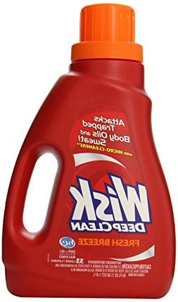 Wisk Deep Clean Laundry Detergent, Fresh Breeze, 50 Ounce