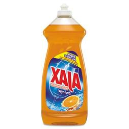 Ajax Dish Detergent, Antibacterial, Orange, 34 oz Bottle