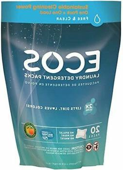 Ecos Laundry Detergent Pods Free and Clear 2X Ultra