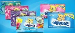 SNUGGLE EXHILARATIONS DRYER SHEETS Fabric Softener 70 - 80 S