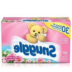 Snuggle Fabric Softener Dryer Sheets, Fresh Spring Flowers,