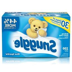 Snuggle Fabric Softener Dryer Sheets, Blue Sparkle, 230 Coun