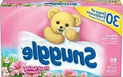 Snuggle Fabric Softener Dryer Sheets, Spring Fresh Flowers,