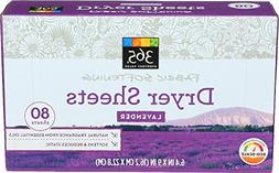 365 Everyday Value, Fabric Softening Sheets, Lavender, 80 Co