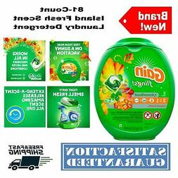 Gain Flings! Laundry Detergent Pacs, Island Fresh, 81 Count