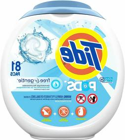 Tide Free and Gentle Laundry Detergent Pods 81 Count Unscent