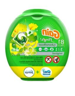 Gain flings, Liquid Laundry Detergent Pacs, Original, 81 Cou