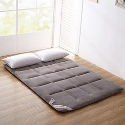 ColorfulMart Gray Grey Flannel Japanese Floor Futon Mattress