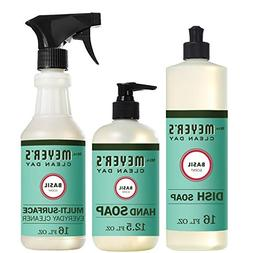 Mrs. Meyer's Clean Day Kitchen Basics Set, Basil Cleaning