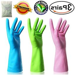 Kitchen Rubber Cleaning Gloves Dishwashing Clean Latex Glove