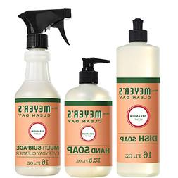 Mrs. Meyer's Kitchen Set Geranium 3 Ct: Dish Soap Hand Soap