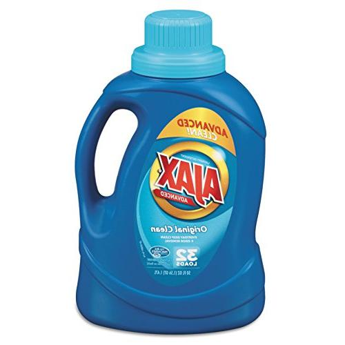 Ajax 49555 2Xultra Liquid Detergent, Original, 50oz Bottle