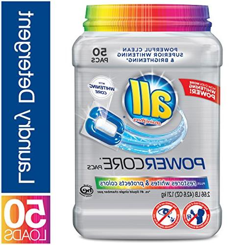 all Pacs Laundry Detergent & Protects Colors, Tub, 50