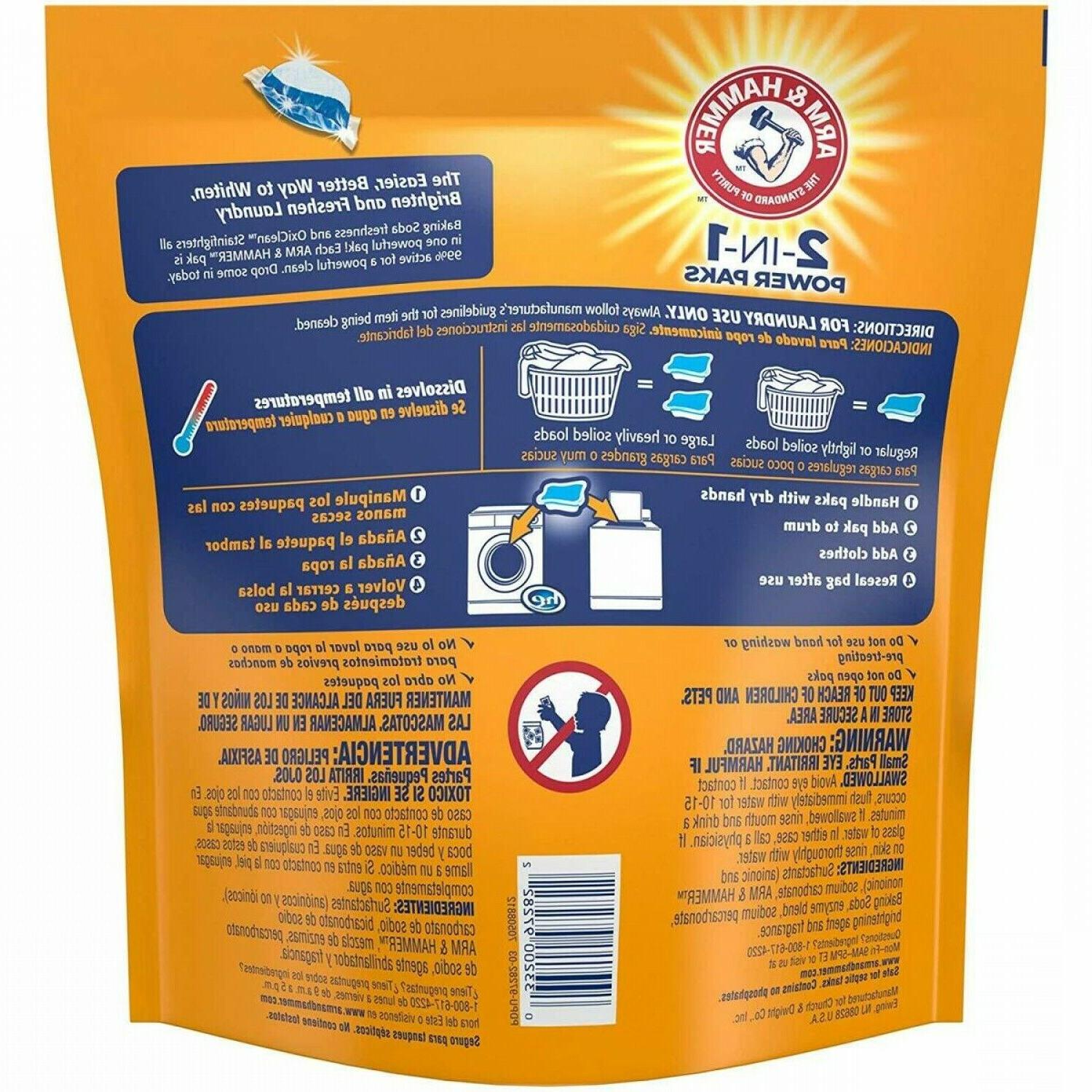 Arm & Hammer 2-IN-1 Laundry Detergent Power Paks, 97 Count P