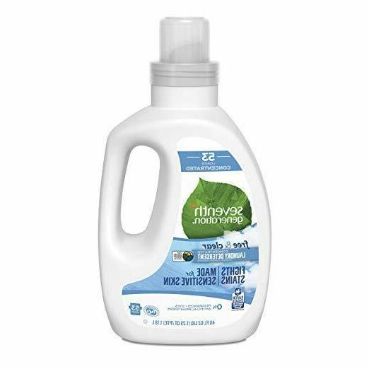 Seventh Generation Concentrated Laundry Detergent unscented