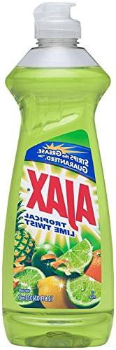 Ajax Dish Liquid-Tropical Lime Twist 12.6 Oz Per Bottle- 4 B