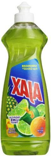 Ajax Dishwashing Liquid, Tropical Lime Twist, 12.6 Ounce by