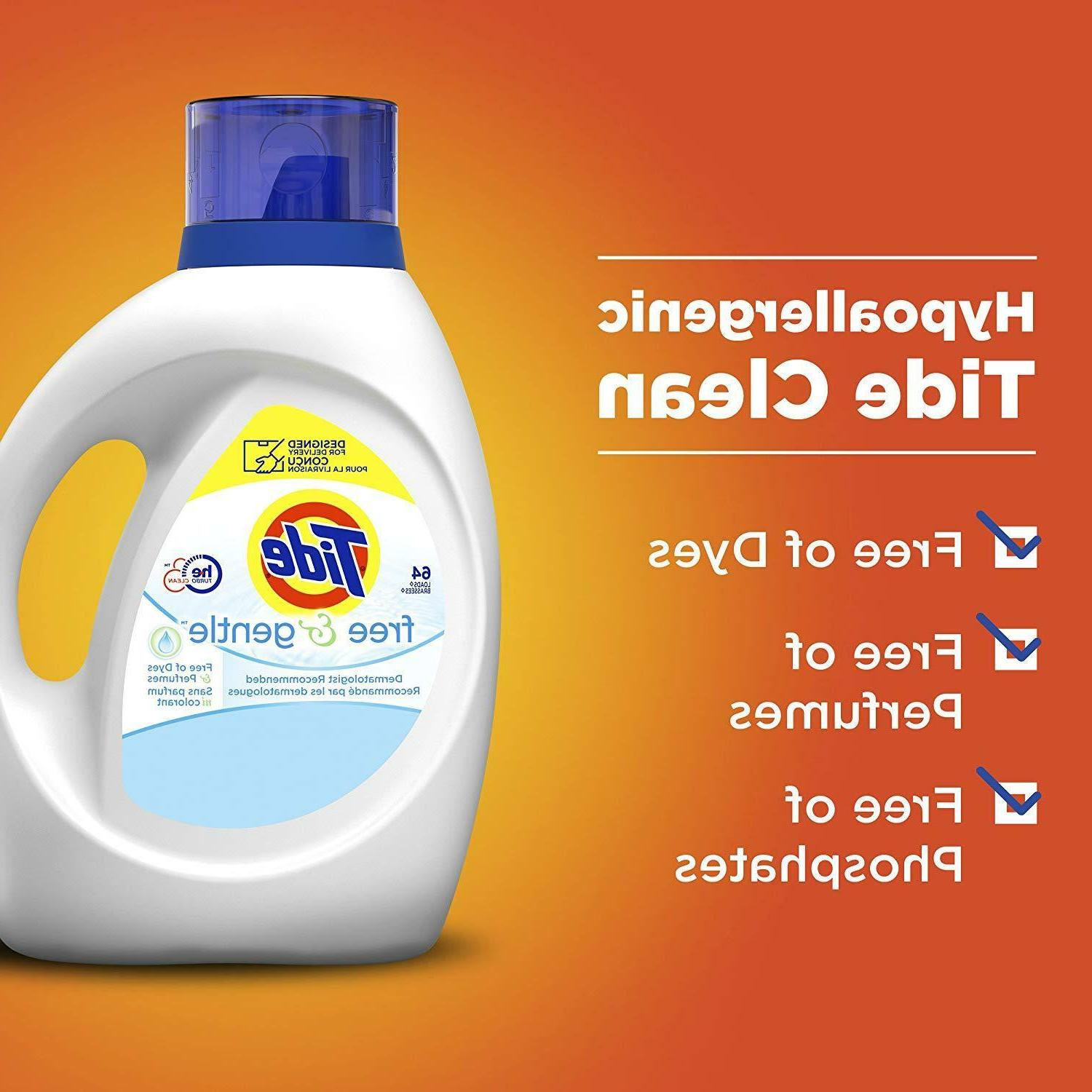 Tide and Liquid Laundry Detergent, 100
