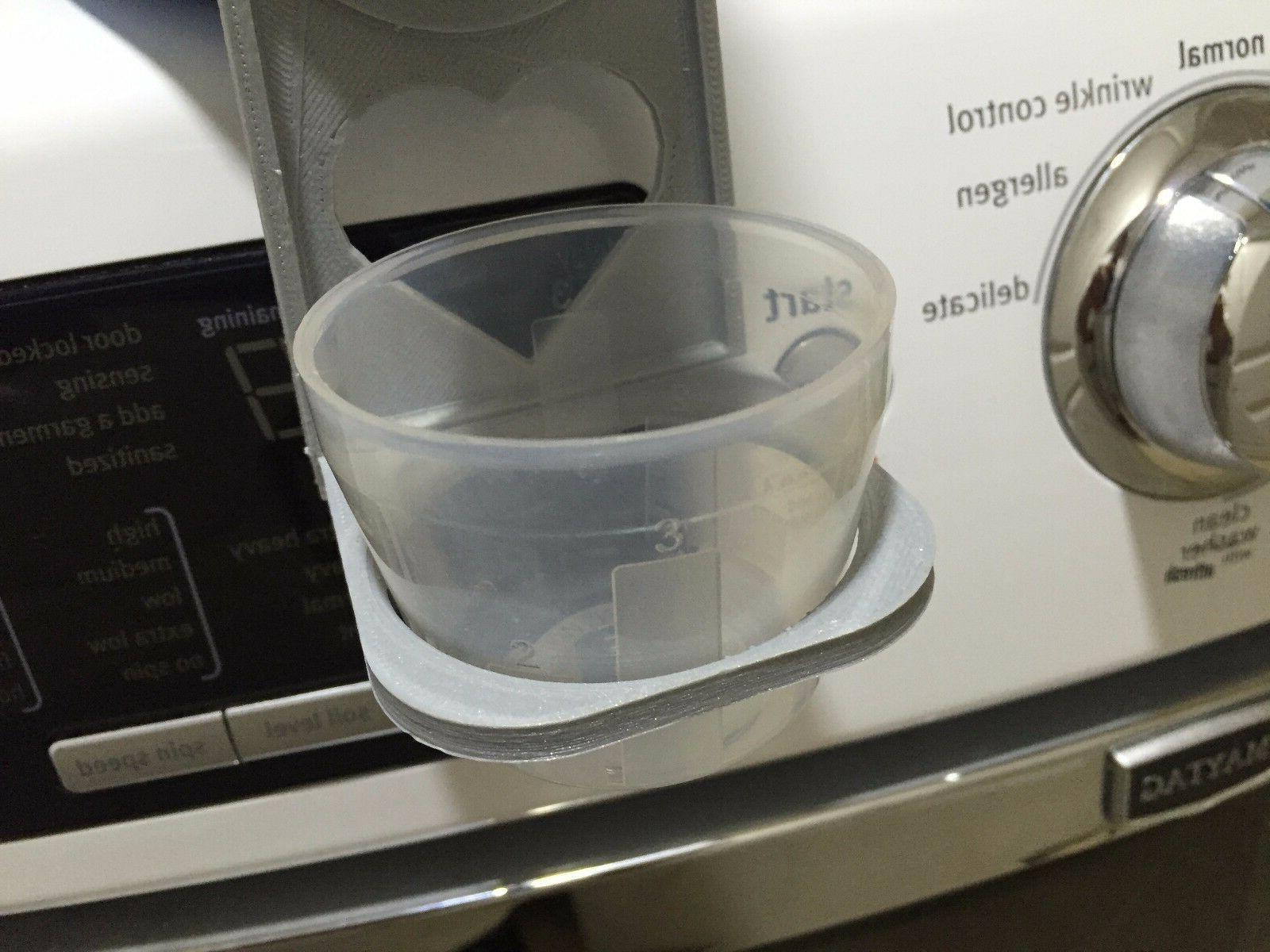 Laundry Detergent and Softener Gadget Holder To Prevent Spill