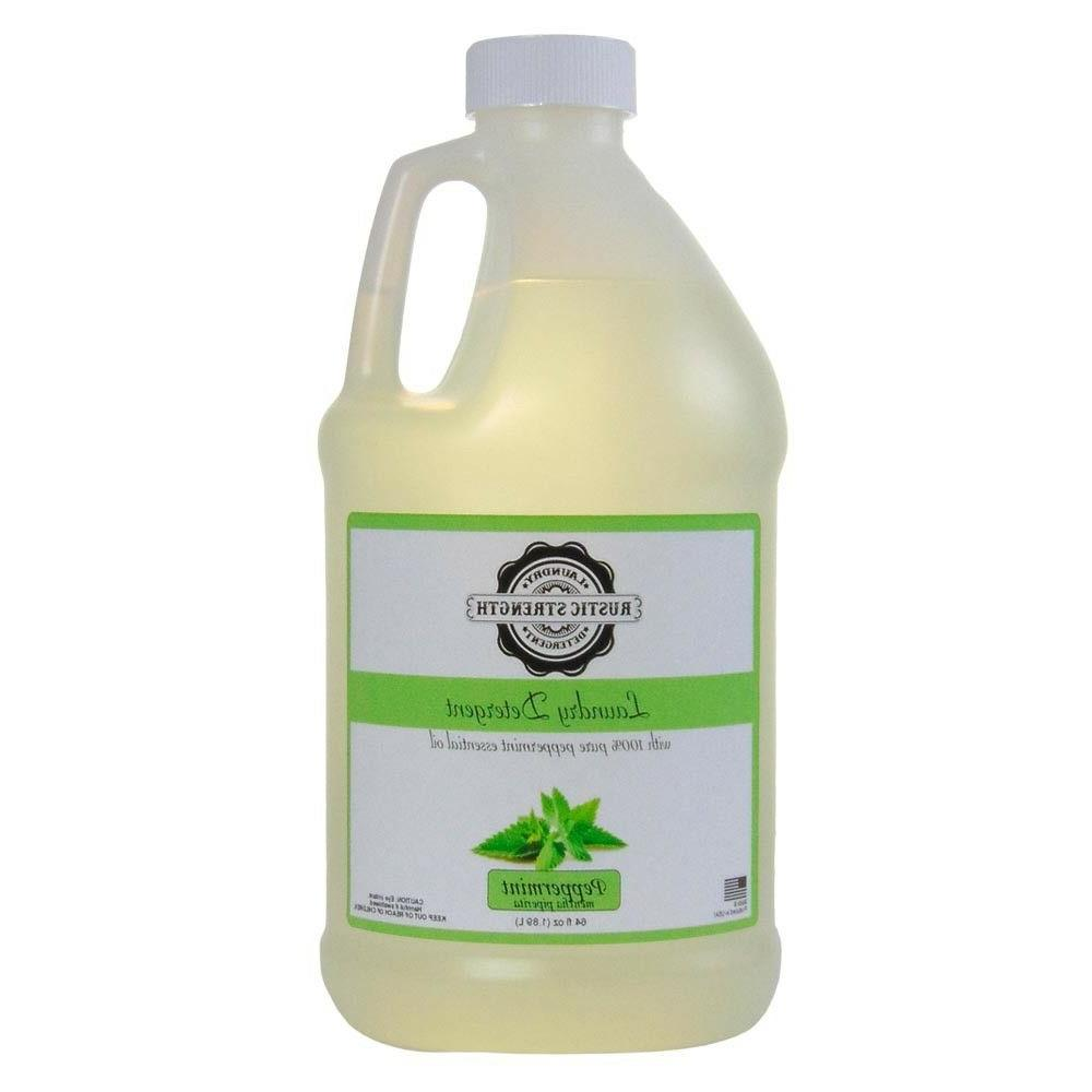laundry detergent scented with peppermint essential oil