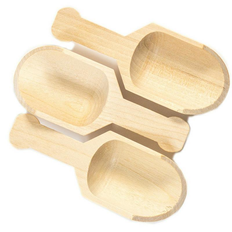 Mini Wooden Scoops For Bathroom Salts And Essential Oil Cand