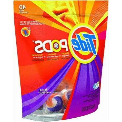 Tide Pods Laundry Detergent Spring Meadow Scent 40 Count