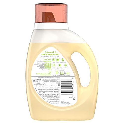 Tide Plant-Based Laundry Detergent, Honey Scent, 2x50 oz, Loads