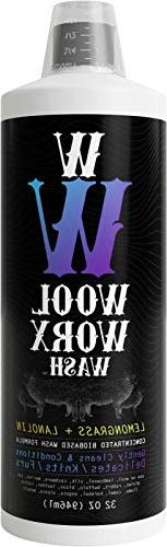 WOOL WORX WASH  Fine Fabric Laundry Detergent - Enriched w/L