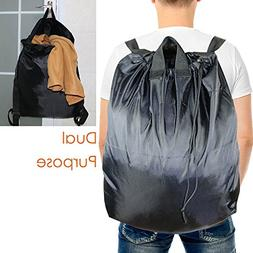 Laundry Bag Backpack for College and Camp with Carry Handles