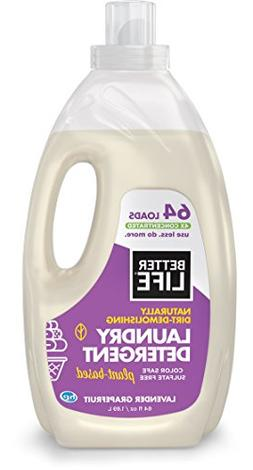Better Life Natural, Plant Based 4X Concentrated Laundry Det