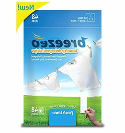 Breezeo Laundry Detergent Strips,Fresh Linen Scent,48 Loads