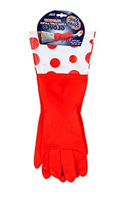 Spic and Span Fashion Long Cuff Fully Lined Latex Gloves Siz