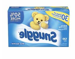 Lot of 6 boxes Snuggle Fabric Softener Dryer Sheets Blue Spa