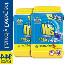 all Mighty Pacs Laundry Detergent Stainlifter 72 Count 2 Tub