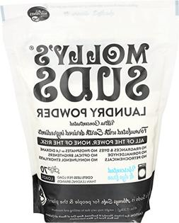 Mollys Suds All Natural Unscented Laundry Powder 70 Loads -