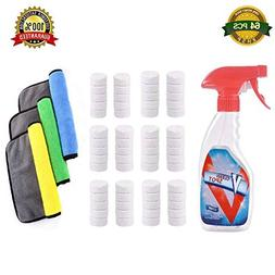 64 Pcs Multi Functional Effervescent Spray Cleaner Set With