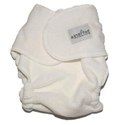 POOTERS Snapless Fitted Cloth Diapers - 6 Pack - Unbleached